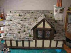 *Life in Miniature*: Making aged slate roof shingles using egg cartons