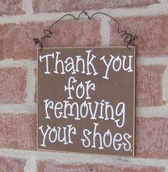 Please remove shoes