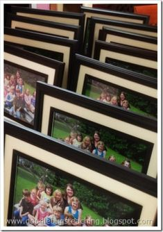 Teach Junkie: 17 Simple End of the school Year Student Gifts and Writing Activities - Class Photo Frame