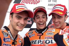 Dani Pedrosa Marc Marquez and Andrea Dovizioso on the podium at the race of the season in Austin 2014 Ducati, Marc Marquez, Moto Scrambler, Motogp Race, Motosport, Latest Sports News, Valentino Rossi, Selfie, Isle Of Man