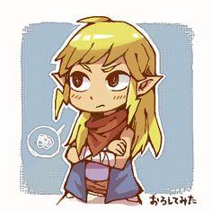 The Legend of Zelda: The Wind Waker   Tetra de cabelo solto que fofinha
