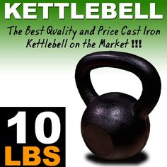 New 10 Lbs Solid Cast Iron Kettlebells Weight Dumbbells Kettlebell * You can find out more details at the affiliate link of the image.