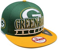 1 New Era NFL Green Bay Packers Classic Stack Punch 9Fifty Snapback Hat Sz M/L