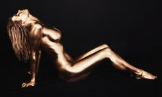Victoria - Golden Girl  Model with gold body paint