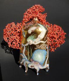 irina zaytceva | back sea horseman irina zaytceva handbuilt porcelain overglaze ...