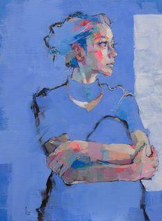 Pinzellades al món Abstract Portrait, Portrait Art, Figure Painting, Painting & Drawing, Painting Inspiration, Art Inspo, Art Anime, Art Graphique, Pastel Art