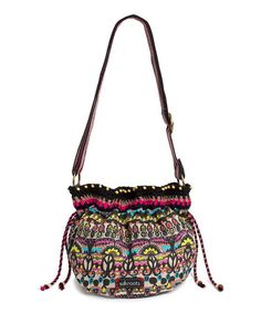 Take a look at this Neon One World Drawstring Satchel by The Sak on #zulily today!