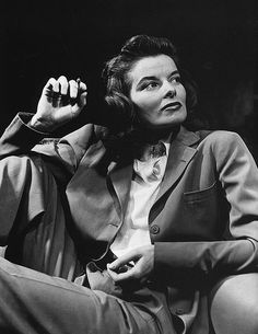 """Katherine Hepburn: """"I wear my sort of clothes to save me the trouble of deciding which clothes to wear."""""""