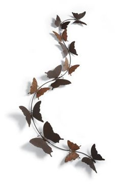 Butterfly Bliss Outdoor Metal Art...... April in Amsterdam likes them...