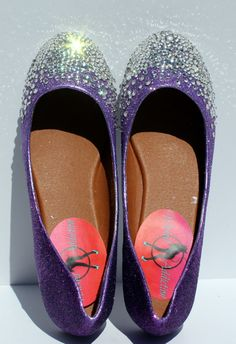 6ffdb09e956b Be daring in these dazzling ombre purple flats! Perfect for party shoes,  prom shoes