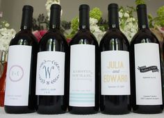 Print Your Party- customizes wine bottles, water bottles, match boxes, and more!