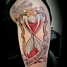 #tattoo #tattoos #ink #inked #anchor #ancora #old school #lifestyle #johnpipporeremi #instaink #instagram #pinterest #lefthandtattoos #Rheinberg #skinwork #art #kunst #arte #johnpipporeremi #tattoogermany #tattoodeutschland #nrw #clessidra #sandglass