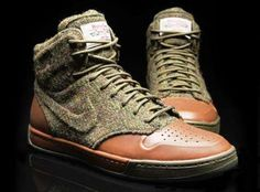 e12cf66e1a4e7f The high top sneaker comes with a Harris Tweed and leather upper