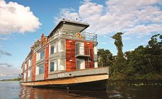 A floating Hotel. Lost Hotel, Floating Hotel, Aqua, Amazon River, Best Cruise, Five Star Hotel, South America Travel, Luxury Yachts, Luxury Travel