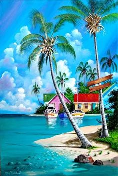 Beach Discover Tranquility Key West Each Print is a colorful reproduction of an acrylic painting. Small & Medium prints are double matted. Large prints are single matted. Lake Pictures, Nature Pictures, Beautiful Pictures, Beautiful Nature Wallpaper, Beautiful Landscapes, Art Plage, Beach Artwork, Beach Paintings, Tropical Paintings