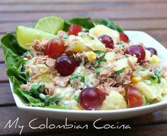 Ensalada de Papa y Atún - Potato and Tuna Salad Colombia, cocina, receta, recipe, colombian, comida.