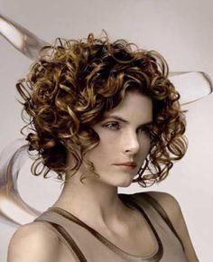 Cute Short Curly Brown Haircuts