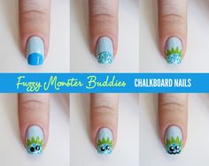 TUTORIAL: Sally Hansen Fuzzy Monster Buddies