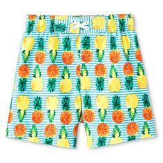 Baby Boys' Pineapple Swim Trunk Blue - Circo, Infant Boy's
