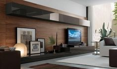 wooden wall for modern living room trends in 2012