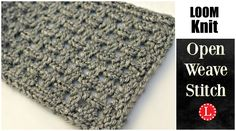 Loom knit the Open Weave Stitch on any Round or Long Loom. This is a combination of a Lace and a Basket weave. Here I will show you how to do Yarn-overs, Kni...