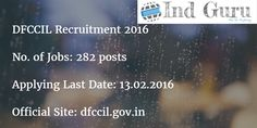 DFCCIL Recruitment 2016 multi tasking staff notification executive asst manager notification for 282 vacancies apply online form official site dfccil.gov.in