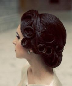 Still pretty obsessed with this look though, its elegant with out being pageant queen.   Pin curls and gibson roll