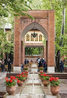Garden of an old house in north of Tehran, Iran