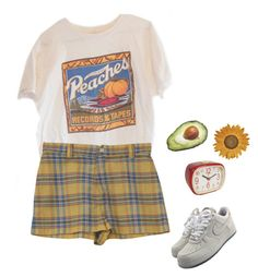 """summer is gross"" by pizzamilkshake ❤ liked on Polyvore featuring NIKE and Retrò"