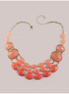Emily Necklace in Coral - Jewelry by IGIGI