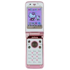 Hello Kitty Phone JP Pink ❤ liked on Polyvore featuring fillers, phones, electronics, accessories, phone cases, borders and picture frame