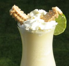 Key Lime Colada--ohhhhhhhh baby. Once you read the ingredients, your mind will whisk you away to Key West and you just might not return:) Cheers my darlings!