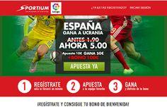 el forero jrvm y todos los bonos de deportes: Sportium Super cuota 5 España gana Ucrania 12 octu...