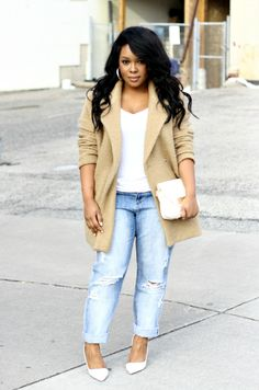 No boyfriend jeans. They make short, curvy girls look wide and squat
