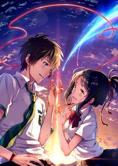"""""""Akai Ito"""" um fio invisível vermelho que conecta os que estão destinados a conhecer-se... independente do tempo, lugar ou circunstancia... o fio pode esticar ou emaranha-se, mas nunca ira partir."""