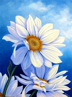 60 New Acrylic Painting Ideas to Try in 2018 – Bored Art Daisy Painting, Painting & Drawing, Acrylic Painting Flowers, Chalk Painting, Painting Tips, Art Floral, Watercolor Flowers, Watercolor Paintings, Painting Inspiration