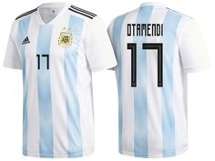 1f9e8d483 Men s Argentina Defender  17 Nicolas Otamendi 2018 World Cup Home White   amp  Blue Player