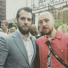 "NEW PIC ALERT  @stevesane met Henry Cavill tonight! ""Me and superman ..."" Thanks for sharing!  #HenryCavill #Superman #ManofSteel #TheManFromUNCLE #NapoleonSolo #BatmanvSuperman #DawnofJustice #ClarkKent #CharlesBrandon #London #fun #Dunhill #fashionshow"