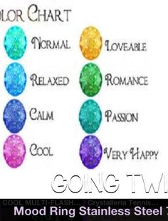 what each color means on a mood ring mood ring color meaning What Each Color  Means
