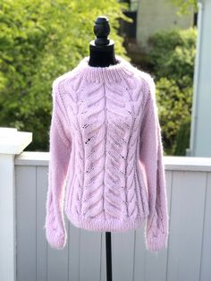 Excited to share this item from my #etsy shop: HAMPSTEAD sweater - handknit in high quality wool and alpacka. #clothing #sweater #pink #scandinavian #wool #alpacka #handknit #knitting