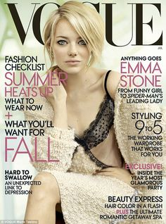 The actress is featured on the cover of Vogue's July issue which hits newsstands nationwide June 26th
