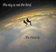 """The sky is not the limit, the Mind is ... "" (Quantum Physics, Quantum Mechanics, Quantum Tunneling)"