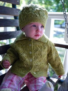 """Awwe!"" Need we say more? Check out Inky Dinky sweater and hat set from Knitspot. Sizes from 3mo-4T"