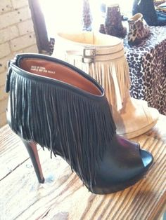Fringe Booties! | Liked by - http://www.chinasalessite.com  – Wholesale Women's Clothes,Wholesale Women's Wear & Accessories/DOROTHY JOHNSON