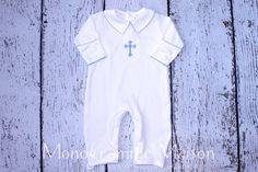 5c9fdd41f Baby Boy Christening Outfit - Baptism Outfit - Dedication Outfit - Baby Boy  Outfit - Newborn Pictures Outfit - Collared Romper - Pima Cotton