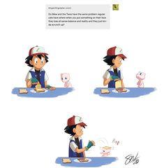 Pokemon Comics, Pokemon Funny, Pokemon Memes, Pokemon Stuff, Video Games Funny, Funny Video Memes, Deviantart Pokemon, Mew And Mewtwo, Pikachu Art
