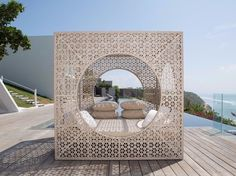 Double canopy garden bed CUBE - SKYLINE design