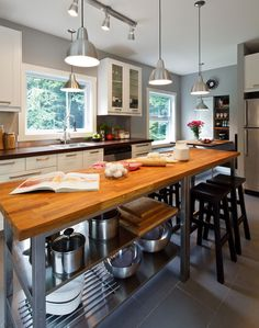 excellent island idea for a large, spread out kitchen (like mine). TGIF - desire to inspire - desiretoinspire.net