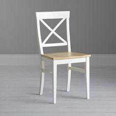 Buy John Lewis Pemberley Cross-Back Dining Chair, Cream Online at johnlewis.com