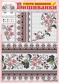 Cross Stitch Borders, Cross Stitching, Tapestry Crochet, Needlework, Embroidery, Knitting, Pattern, Farmhouse Rugs, Towels
